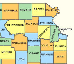 NE Kansas Counties
