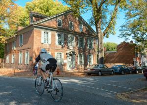 Biking in Historic New Castle, Delaware
