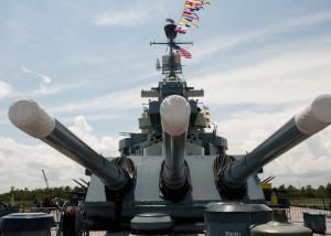 WWII Battleship North Carolina 16-inch guns
