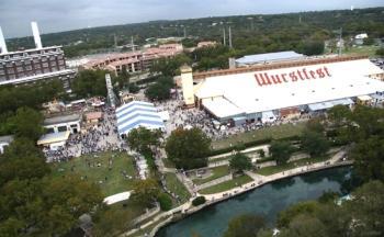 Wurstfest-aerial view