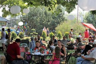 Art in Speed Park wine garden