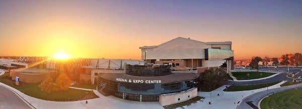 Allen County War Memorial Coliseum at Sunset