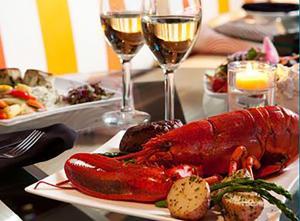 East Restaurant lobster dish