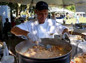 Cooking the shrimp for the Shrimp & Grits Festival on Jekyll Island