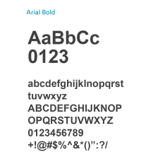 Arial Bold