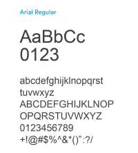 Arial Regular
