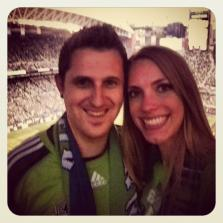 Seattle Sounders fan at FC Match at CenturyLink Field