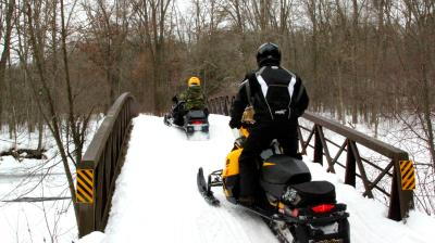 snowmobiling in the Stevens Point Area