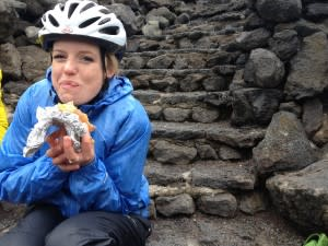 Molly with sandwich