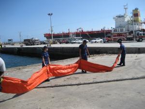 US Coast Guard spill prevention drill