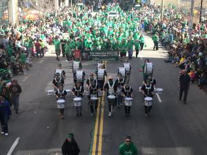 The Rochester St. Patrick's Day Parade marches down East Ave