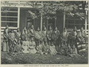 Sioux Girls at Carlisle Indian Industrial School