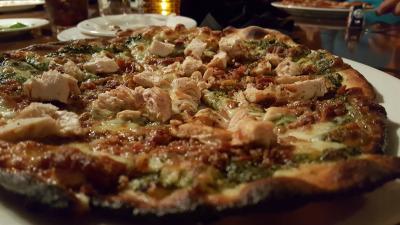 Charbonos Chicken Pesto Pizza