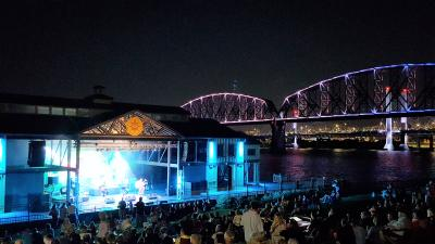 RiverStage concert at night