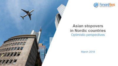 Forwardkeys: Asian stopovers in Nordic countries