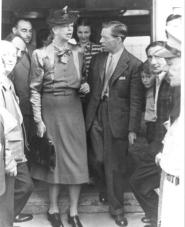 "First Lady Eleanor Roosevelt visited the ""Safe Haven"" refugees with camp director Joseph Smart. Learn their story on August 20 at the Great Lakes Seaway Trail Discovery Center in Sackets Harbor,"