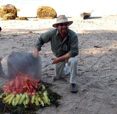 Cooking on the beach