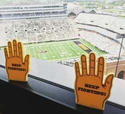 Beat Cancer Foam Hands