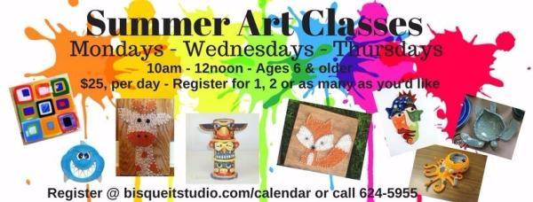 Bisque It Studio Summer Art Classes