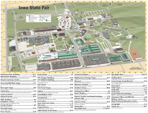 Iowa State Fairgrounds Map