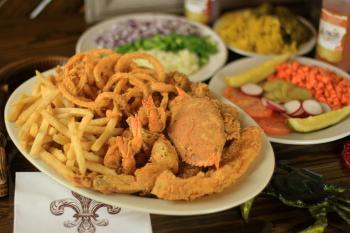 Seafood Platter at LeBleu's Landing