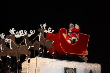 The Christmas Under The Stars Parade in Brownsburg is a lot of fun.