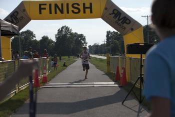 Finish line at Hendricks County Rib Run!