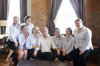 Matching bridesmaids shirts | Erika Brown Photography