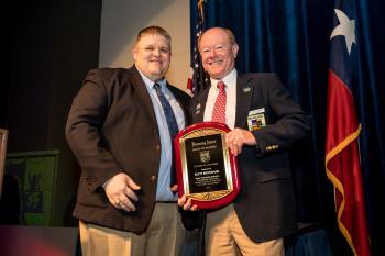 Besserung Award winner Rusty Brockman