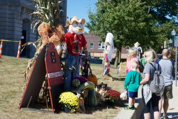 Which scarecrow on the historic Hendricks County Courthouse Square is your favorite?
