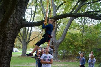 Climb a tree at the Fall Colors Festival at McCloud Nature Park on Oct. 20.