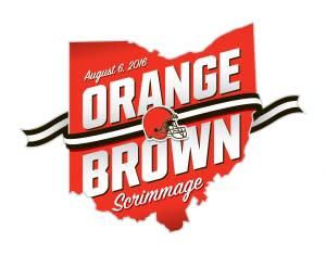 Orange & Brown scrimmage logo