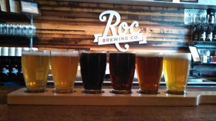 Roc Brewing Co. Beer Flight