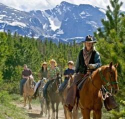 Horseback Riding on Path - small
