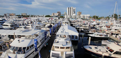 Fort Lauderdale International Boat Show View Of Yachts