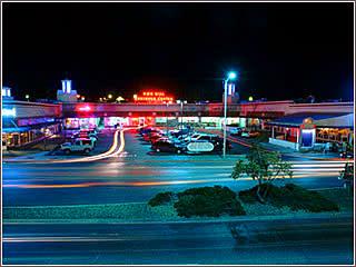 Nob hill shopping center at night by marblestreetstudio.com