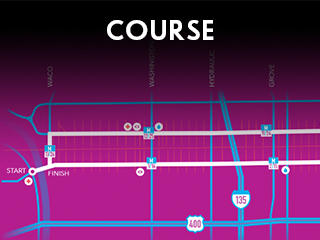 Chisholm Trail Marathon Course Widget