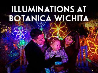 illuminations at botanica wichita, events in wichita ks, festivals and events in wichita, family friendly