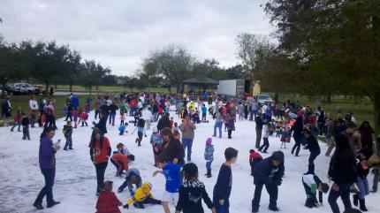Snow Day in Lafreniere park