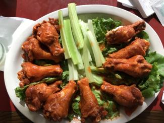 Hot wings and a variety of fare at the Coachman