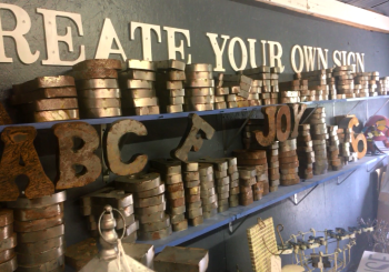 Metal letters at the Urban Rustic Farmhouse