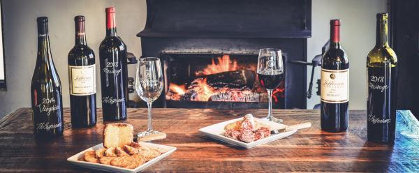 jefferson vineyards fireplace