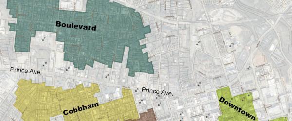 Boulevard historic district map