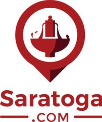 Saratoga.com Logo red with spring icon