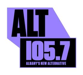 105.7 Alt Albany's New Alternative Logo