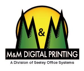 M&M Digital Printing Logo a division of Seeley Office Systems