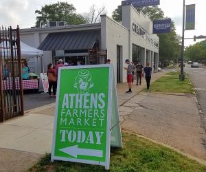 athens farmer's market sign