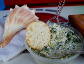 Spinach dip from the Veggie Wagon