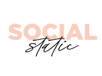 Social Static logo in pink and black