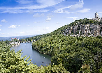 Aerial view of Mohonk Preserve Spring